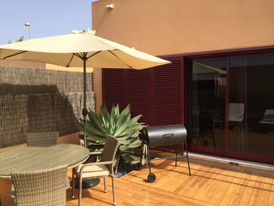 Decking with Large BBQ
