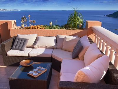 Photo for Contemporary duplex apartment in luxury residence with pool Cannes Bay
