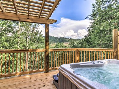 Photo for Sevierville Cabin w/ Private Mtn View Hot Tub!