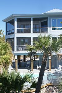 Luxury Pvt  Pool&Spa Home 300 feet to Beach Sleeps 12 in beds