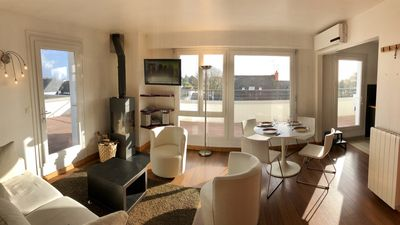 Photo for Cozy apartment - 360 ° panoramic view terrace