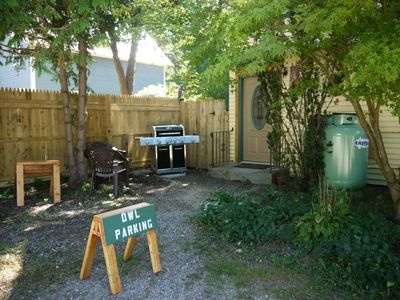 Photo for Pet Friendly In town location with a cabin feel