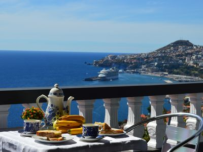 Photo for TOP Floor with three balconies in Funchal Sea view Free Wifi and Barbecue