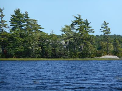 Photo for Honeymoon Island on Pemaquid Lake - Secluded cottage