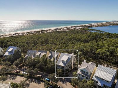 Photo for *Beach Side Hwy 30A in WaterColor *Steps to the Spectacular New WaterColor Beach Club & Beach Access* Luxury Family Home with Custom Golf Cart*