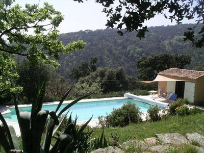 Photo for 8 people, 5 bedrooms.  calm Exposure east and south, heated pool, nature