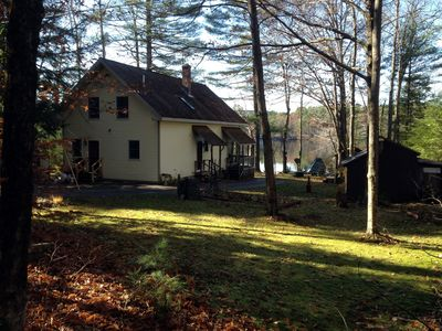 View of RoseMerry Cottage property. House is on 3 Acres with Lake Frontage.