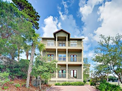 Photo for The Village Getaway on 30A- Stunning Tri- level 4 beds 3 baths