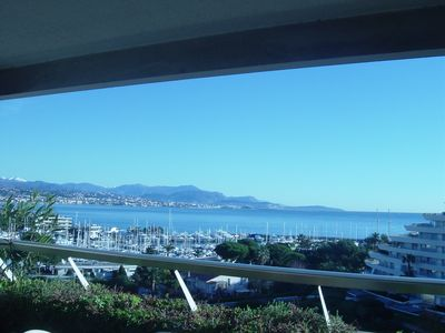 Photo for 2 P Villeneuve Loubet marina sea view French Riviera between Nice and Cannes