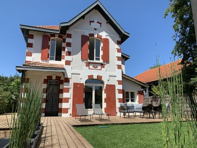 Photo for Superb Arcachonnaise villa entirely renovated 100m from the beach