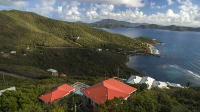Photo for Caribe Breeze, private peaceful luxury villa and pool, spectacular views of BVIs