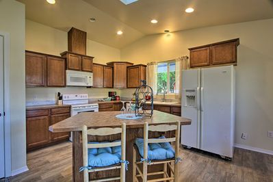 The property provides 2 full kitchens for all your cooking needs!