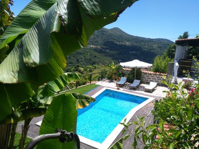 Photo for Baião Rustic house with private pool and mountain views