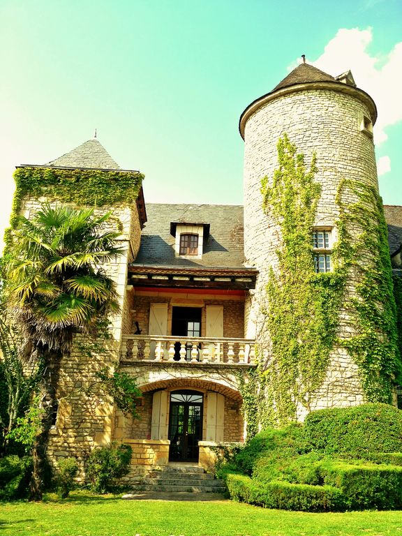 Chateau Raysse_ The 12th Century Tower. Balcony Of Master Bedroom.