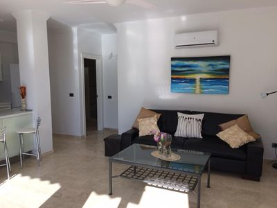 Photo for Beautiful, light and airy apartment in Mogán. A short walk to beach and shops.