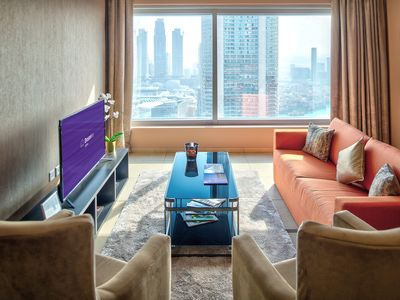 Photo for Spacious 48 Burj Gate - 4501 apartment in Downtown with WiFi, integrated air conditioning (hot / co…