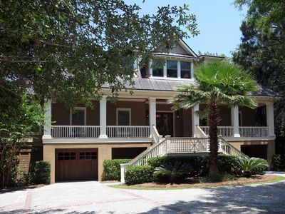 Photo for Spacious, elegant, lagoon view home w/private pool in Vanderhorst Plantation