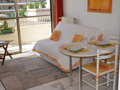 Photo for 2 rooms with terrace in very quiet residential area 300m from the beach!
