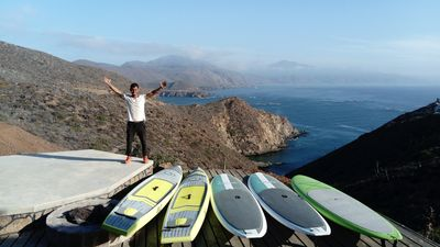 My friend Jose Luis can lead first-timers and pros on paddleboarding adventures!