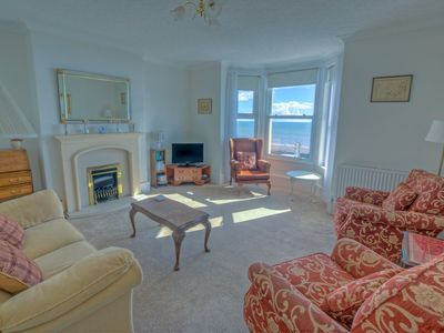 Photo for Seafront location with stunning sea views of Lyme Bay
