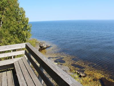 Photo for Located at the end of the road, waterfront home with quiet feel of northwoods!