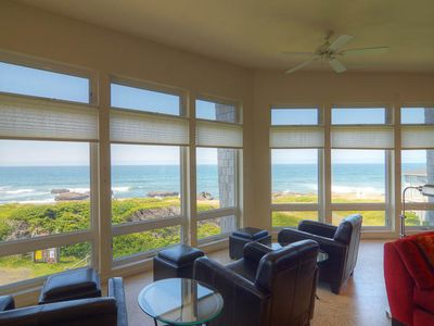 Photo for Elegance, Incredible Views in this 6-Bedroom Yachats Oceanfront Retreat