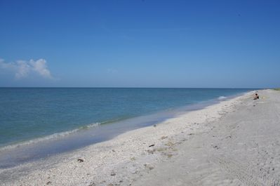Sanibel's beaches are famous for shelling, birds and fishing