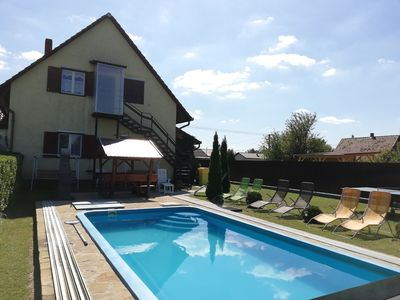 Photo for Holiday apartment in Lake Balaton with pool and washing machine