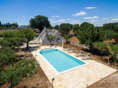Photo for Trullo - private pool - absolute privacy - drone tour available