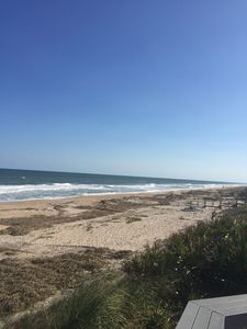 Property is just across the parking lot from a beautiful Ponte Vedra Beach.