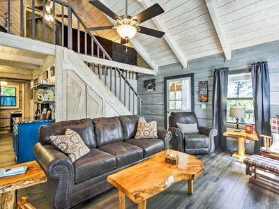 Photo for Bring the Family to the Aloha Cabin! Wrap Around Deck w/ Fire Pit, 2 King Beds, Skee-Ball & WiFi