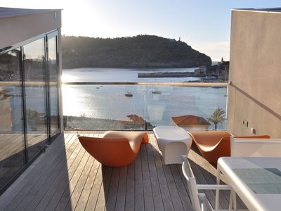 Photo for Modern townhouse with fantastic views of the Port of Sóller.
