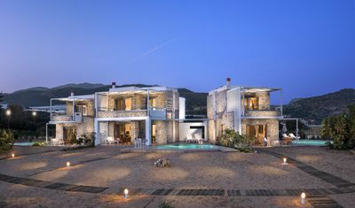 Photo for LITHOS-LUXURY BEACHSIDE STONE VILLA - PRIVATE POOL - DIRECT ACCESS TO THE BEACH