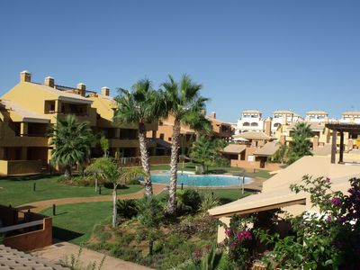 Photo for Close to safe beach in Mar de Cristal, in gated small complex with gardens.