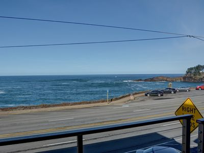 Photo for Experience this beautifully modern condo with great views of Depoe Bay!