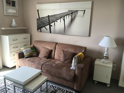 Photo for Superb studio sea view. Crossing apartment, spacious, fully equipped modern.