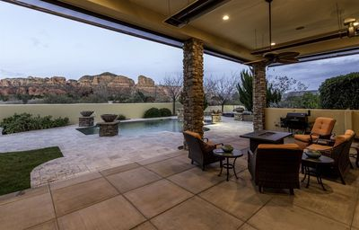 Photo for New Listing! Unparalleled Sedona Head-Turner!  Superb Views, Pool, Hot-Tub, Fire-Pit, Exquisite Deco