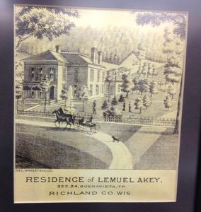 Lemual Akey built the property in 1879, as shown in this original drawing.