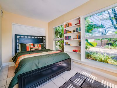 Photo for #1:  Sunny & Quiet 1BR with Private Patio. Kitchen equipped for cooking.