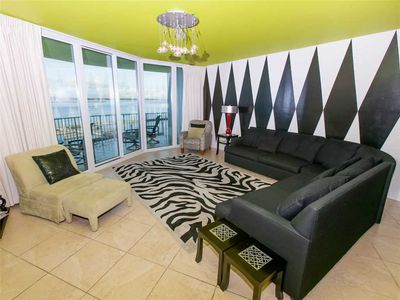 Living Room-Caribe 306C-Orange Beach, AL