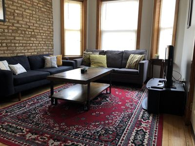Photo for Logan Square 2 Bed - Free Parking, Great Area! 5 min walk to the L train.