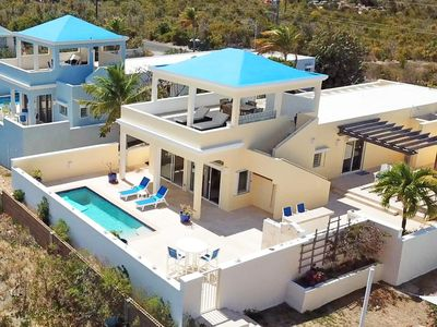 Photo for Romantic Private Villa, Panoramic Ocean Views, Pool, Spectacular Outdoor Spaces.