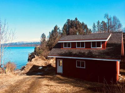 Photo for Secluded Beach Cottage in Halibut Cove