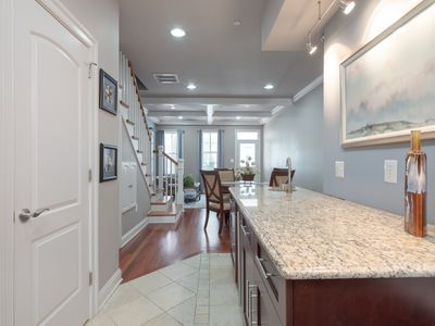 Open floor plan for beautiful flow from the kitchen to dining to living areas
