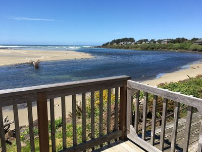View of the beach from the deck.