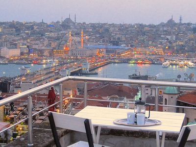 Photo for Cosy charm, fabulous terrace views in Galata!