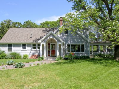 Photo for Tranquil 4BR on Bourne's Pond w/ Private Beach, Dock & Screened Porch