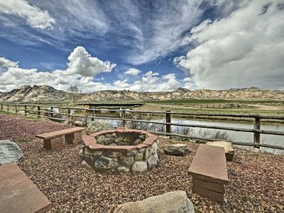Photo for Rustic WY Lodge on 220,000-Acre Split Rock Ranch!