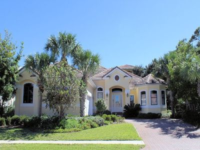 Photo for Newly Updated! 4 Bed 3.5 Bath home with private pool & 6 seater street legal golf cart! Book Now!