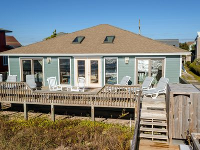 Photo for Carpe Diem, Beachfront, Fun Game Room,  Outdoor Hot Shower, Linens Included